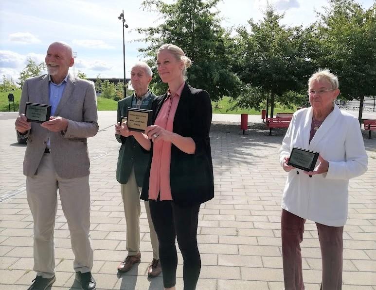 Rolf Edling, Uno Danielsson, Anna Laurell och Lena Andersson.